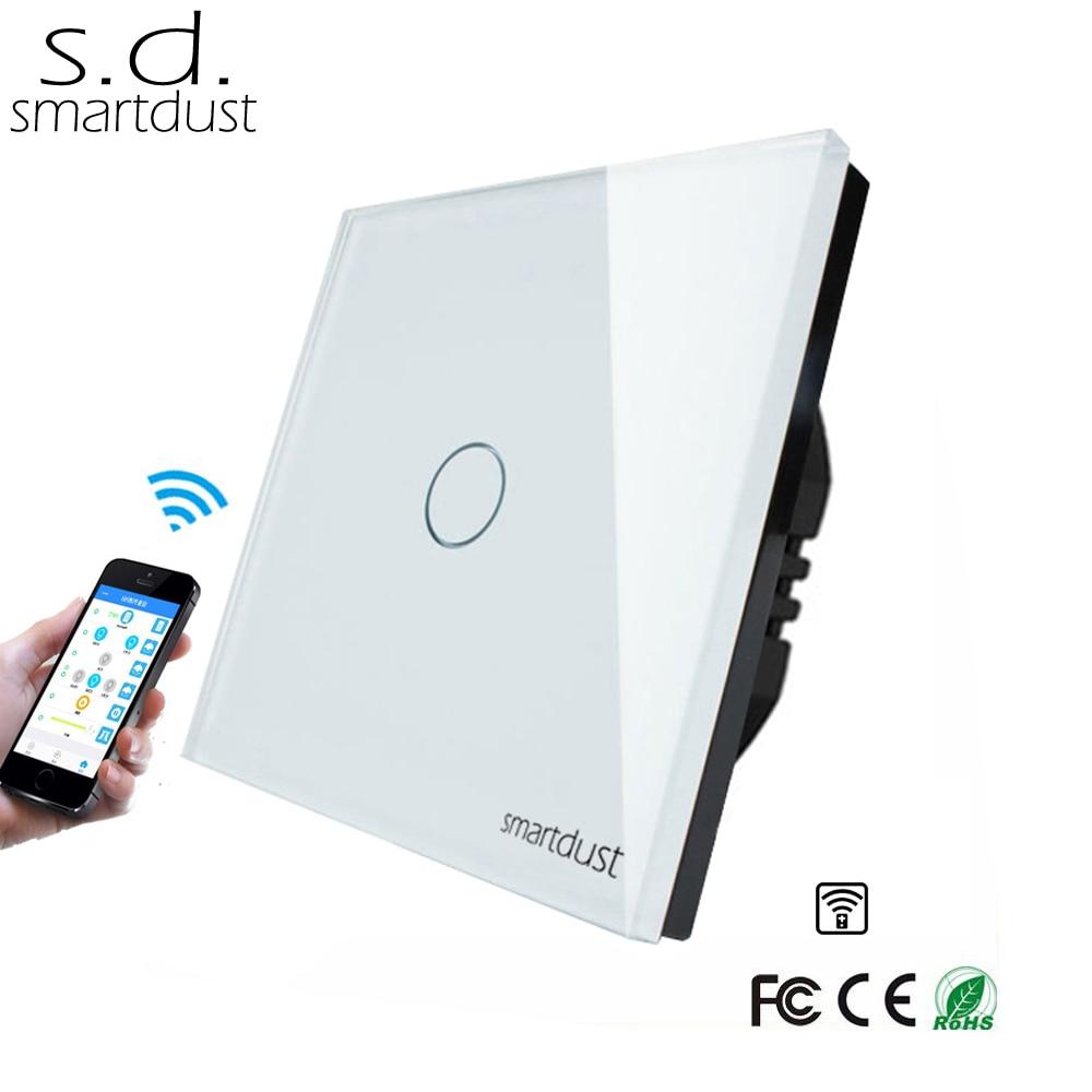 Smartdust EU Wireless Remote Control Google Home Alexa Compatible 1 Gang Smart Home Light Ewelink App Wifi Touch Switch