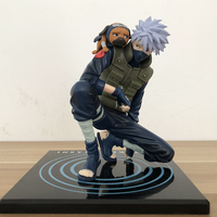 Japanese Animation NARUTO Hatake Kakashi With Ninken Pakkun 15cm PVC Action Figure Toy