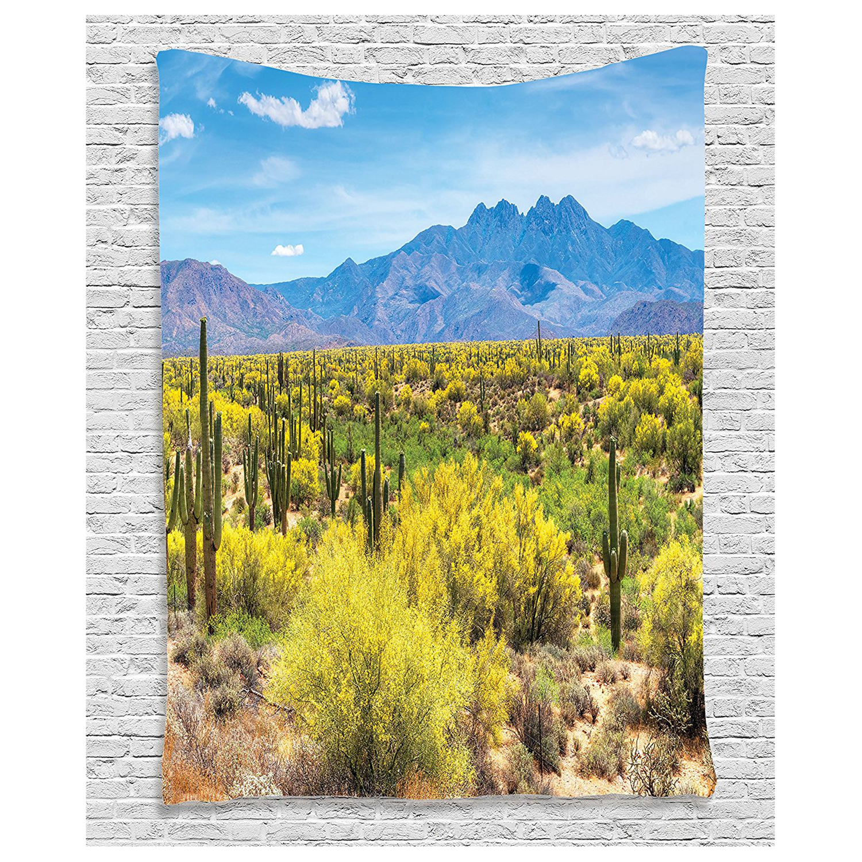 Saguaro Cactus Decor Collection Blooming Palo Verdes and Saguaros at ...