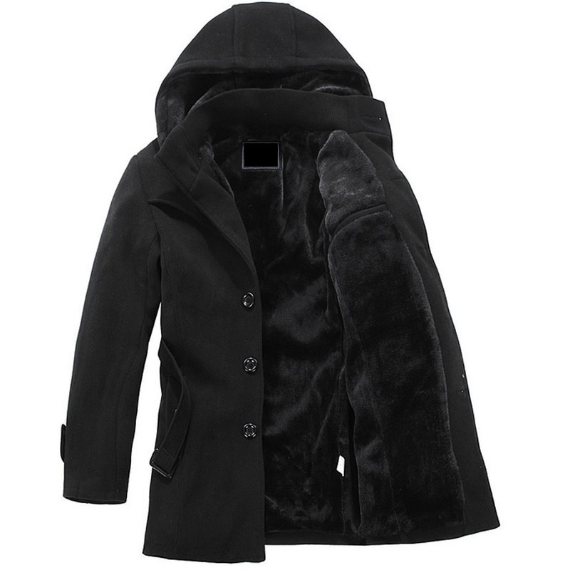 Hot warm autumn and winter men's casual jacket warm coat Overcoat free shipping