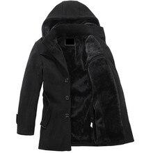 Горячая теплая осень и зимний мужской случайно куртку теплое пальто бесплатная доставка