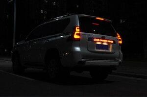 Image 4 - Car Chrome LED Trunk Lid Cover Braking Light Driving Light For Toyota Prado 150 Land Cruiser Prado FJ150  2018 Accessories