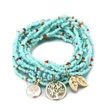 Beaded Bracelet with Tree of Life