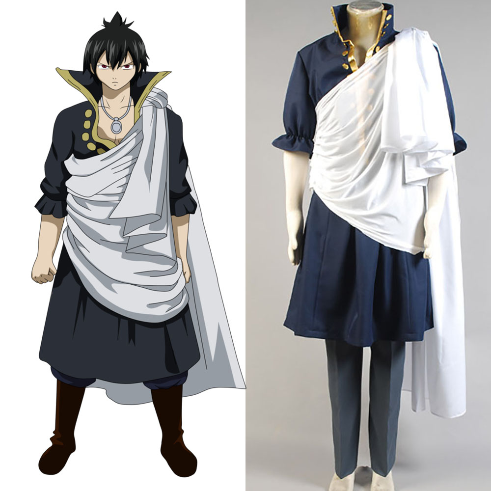 fairy tail cosplay Zeref Dragneel Cosplay Costume  Anime full set Outfit Halloween Carnival Party Costume for men
