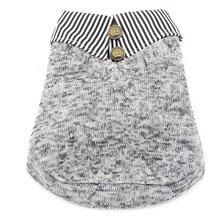 Small Canine Garments for Women Boys Striped Lapel Canine Coat Fleece Lined Winter Sweatshirt Pet Cat Garments Pet Attire