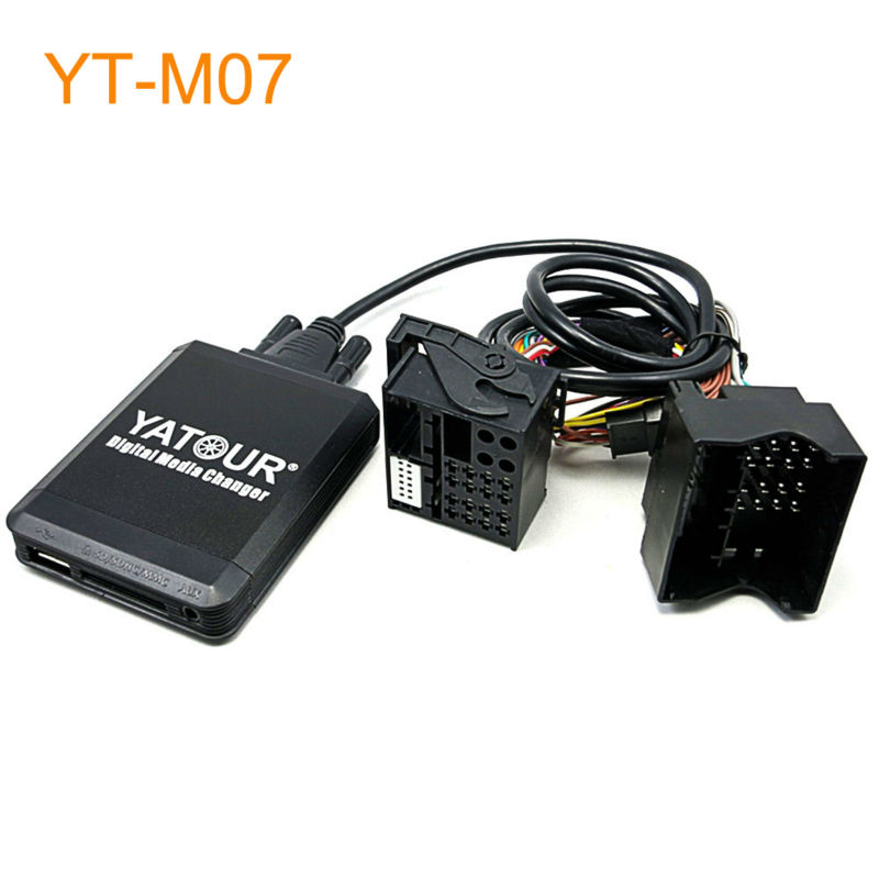 Yatour Car MP3 USB SD CD Changer for iPod AUX with Optional Bluetooth for Ford Fiesta Mondeo Focus Fusion Galaxy Transit Tourneo yatour car adapter aux mp3 sd usb music cd changer cdc connector for nissan 350z 2003 2011 head unit radios