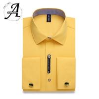 Alimens & Gentle Mens French Cuff Dress Shirt Long Sleeve
