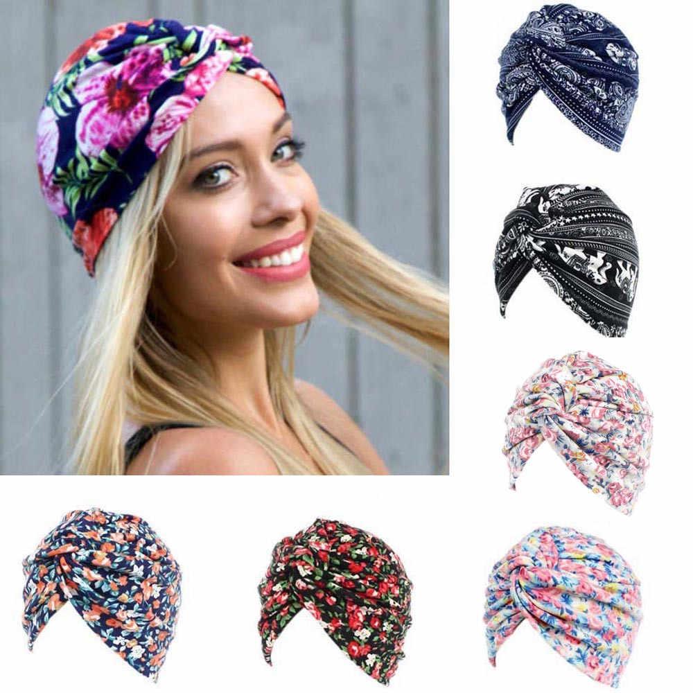 e186596e70e20 NewNew Hot Women Floral Chemo Hat Beanie Scarf Turban Head Wrap Cap hats  for women female
