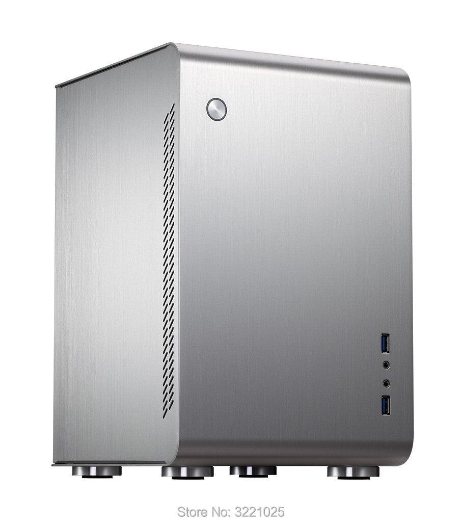 Jonsbo U2 En Aluminium Argenté Mini ITX ordinateur Cas USB3.0 jeu petit châssis HTPC ITX soutien 3.5 ''HDD