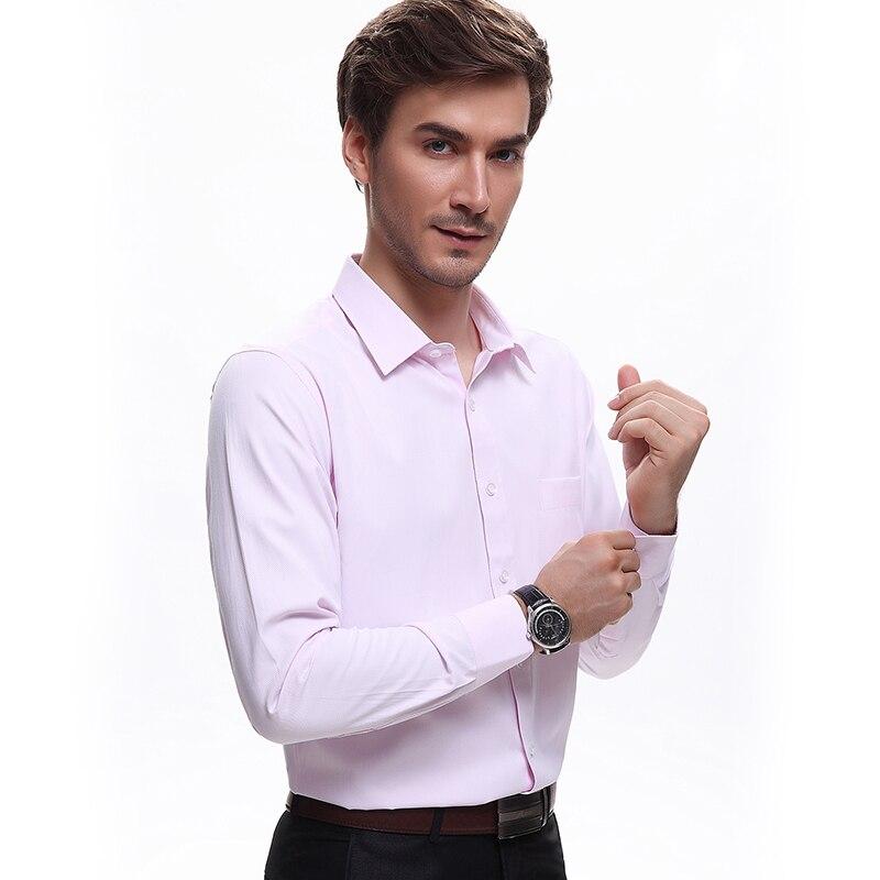 Рубашка мужская рубашка летние длинные рукава Slim Fit рубашки розовый цвет небесно-синий белая рубашка 5xl мужская одежда 2016