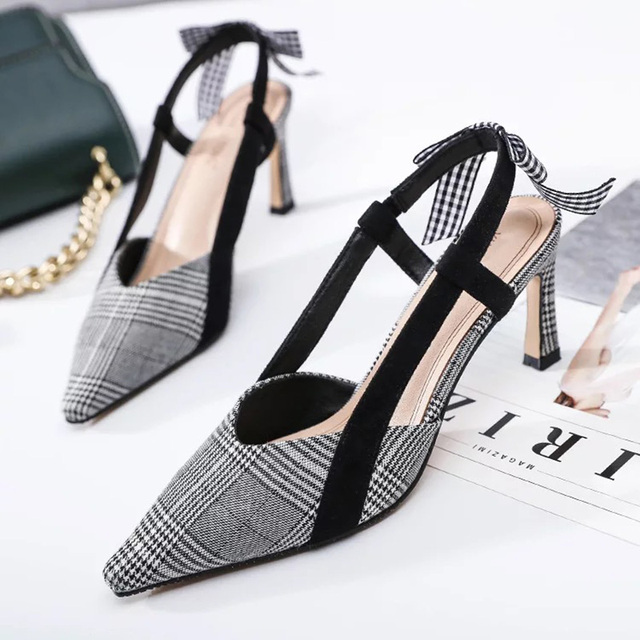 c7f8d33b8aa2 2018 -Retro-Stylish-Houndstooth-Pattern-Playful-Bow-Embellishment-Women-s-Dating-Party-Vocation-Dress-High-Heels.jpg 640x640.jpg