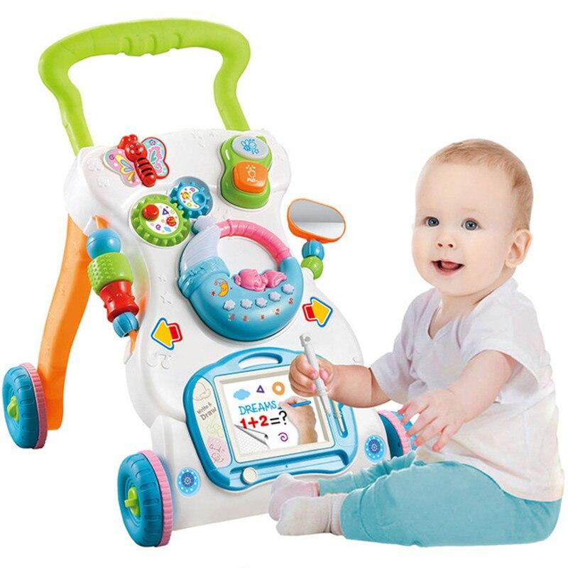 Bébé marcheur adapté à la petite enfance apprentissage Assistant multifonctionnel bambin chariot Assis-à-debout Marchette