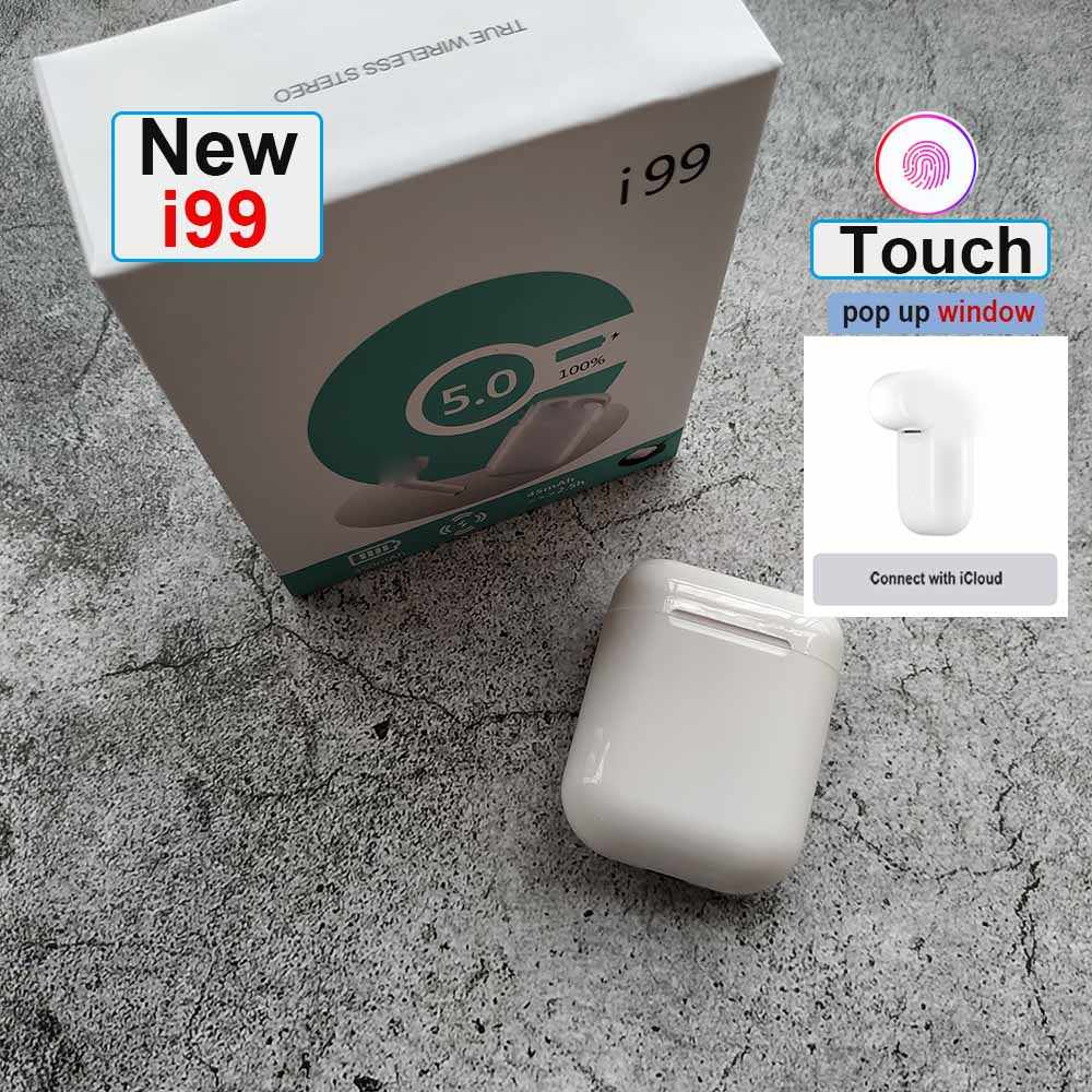 Original i99 TWS pop Touch clave Mini auricular inalámbrico Bluetooth 5,0 auriculares para Android xiaomi Iphone oreja PK i20 i30 i60 i80