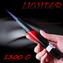 Hot Compact Jet Butane Lighter Metal Pen Torch Turbo 1300 C Fire Windproof Cigarette Accessories