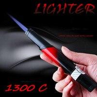 Kein Gas Kompakte Jet Butanfeuerzeug Metall Stift Taschenlampe Gasline 1300 C Feuer Winddicht Leichter Benzin Benzin Zigarette Zubehör