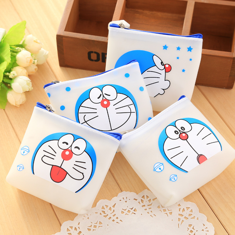 2017 New doraemon lovely woman jelly glue coin purses zero wallet child girl boy women purse,lady zero wallets,coin bag coin purses the movie aladdin and the magic lamp zero wallet metrosexual fashionista out coin purse bag lqb1046