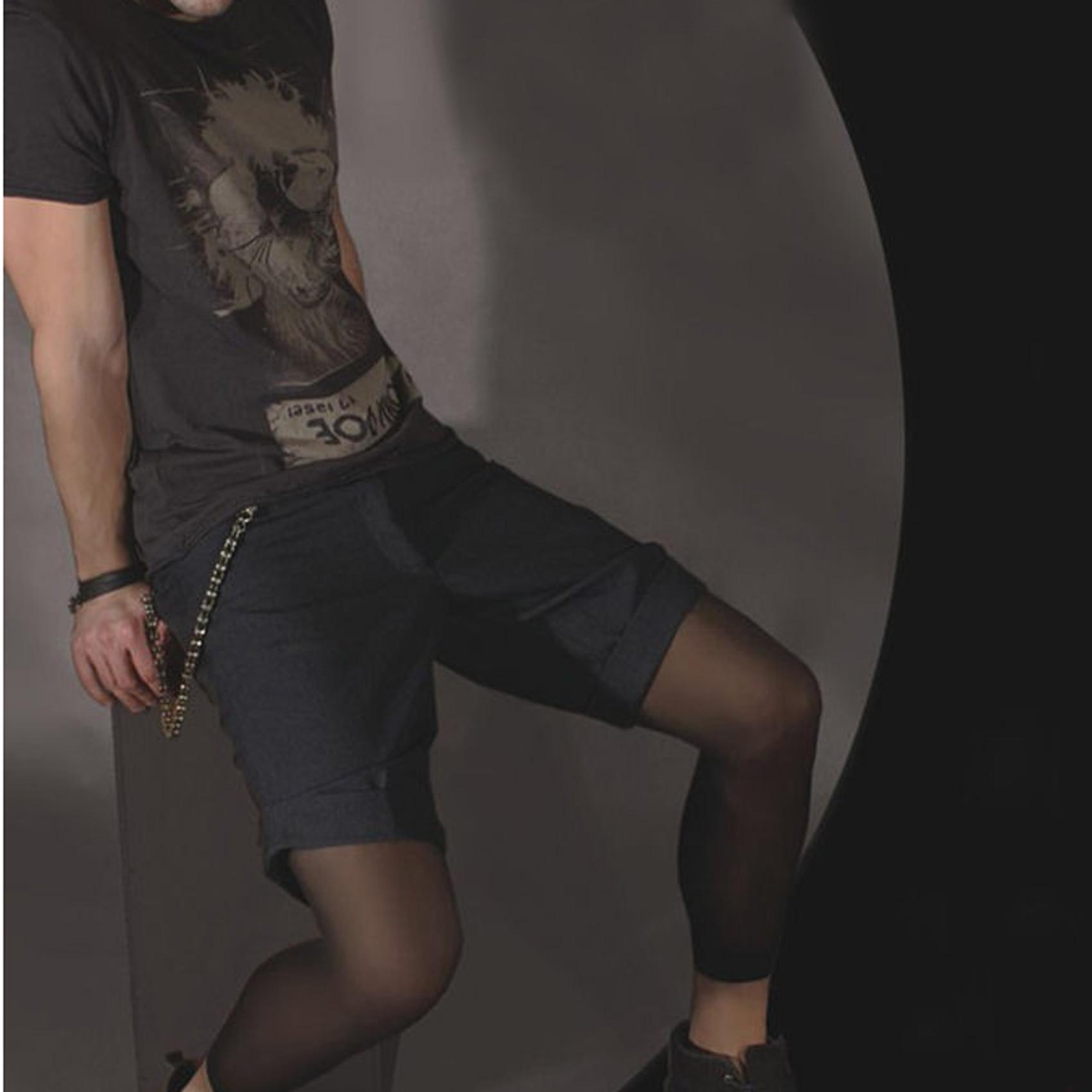 2017 Mode Männer Körper Strumpfhosen Sexy Männlichen Homosexuell Strümpfe Männer Neunte Hosen Spandex Strumpfhosen Herren Strumpfhosen Strumpf Billigverkauf 50%