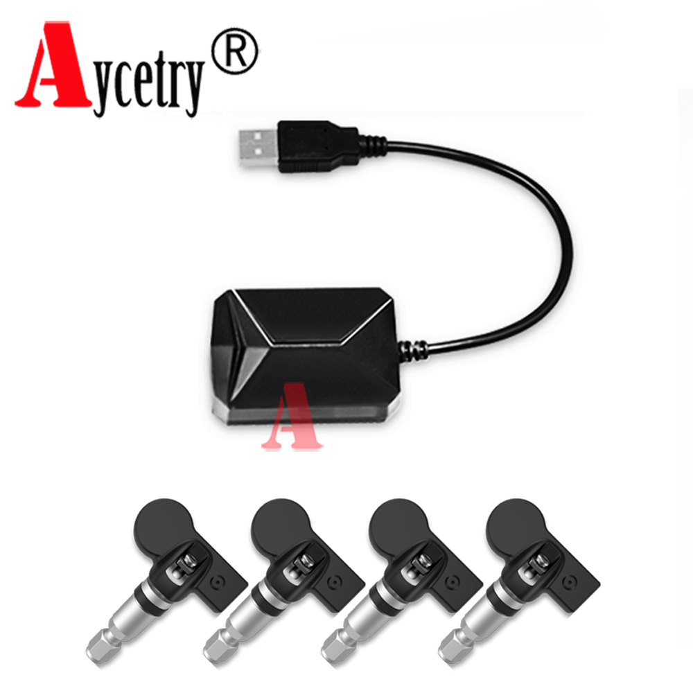 Aycetry wholesale USB TPMS for Android CAR DVD car Tire Pressure Monitoring 4 Sensors Alarm Tire