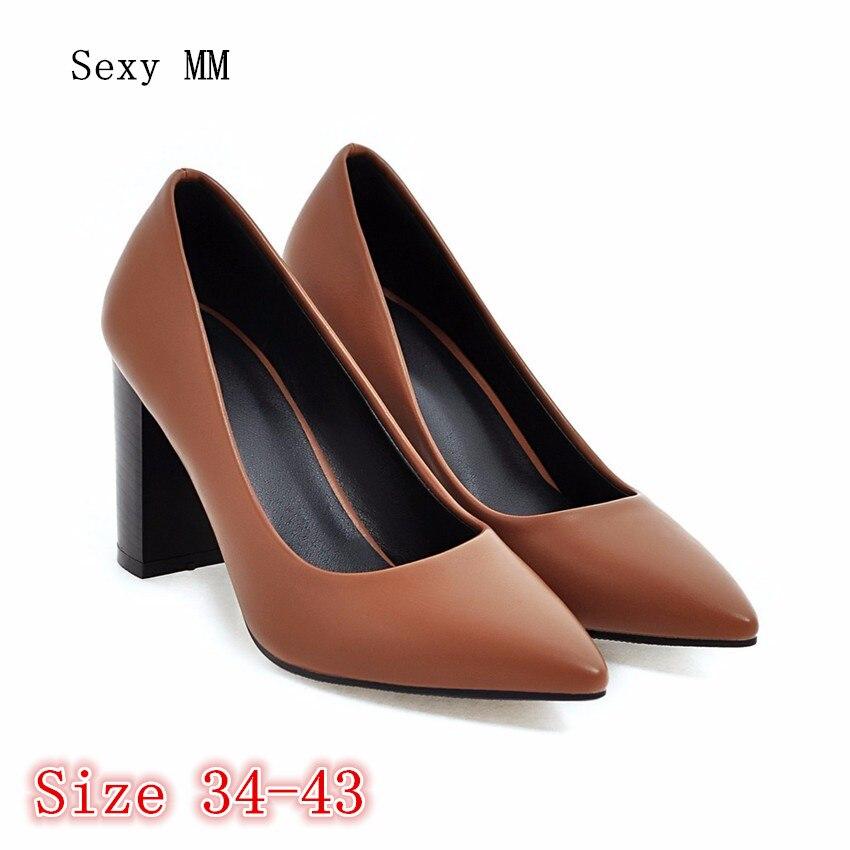 High Heels Women Pumps Stiletto Woman Party Wedding High Heel Shoes Kitten Heels Plus Size 34 - 40 41 42 43