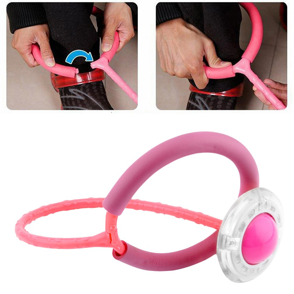 OCDAY Jumping Ring Ball for Children Adult Sport Gaming Fitness Bouncing Ball ABS Throw Foot Ball Toys Creative ABS Unisex New
