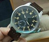 55 mm very big dial PARNIS Asian 6498 Mechanical Hand Wind Mechanical movement men watches Mechanical watches DF356a