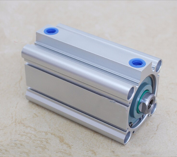 bore 100mm x100mm stroke SMC compact CQ2B Series Compact Aluminum Alloy Pneumatic Cylinder acq100 75 b type airtac type aluminum alloy thin cylinder all new acq100 75 b series 100mm bore 75mm stroke