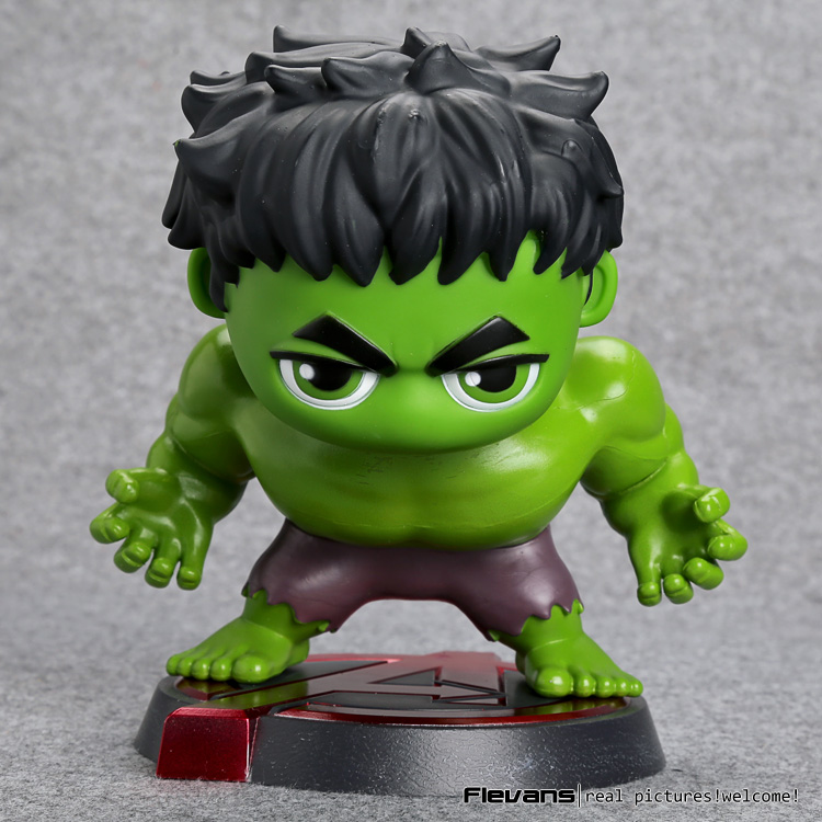 Avengers Hulk Bobble head PVC Action Figure Collectible Model Toy 15cm HRFG503 avengers movie hulk pvc action figures collectible toy 1230cm retail box