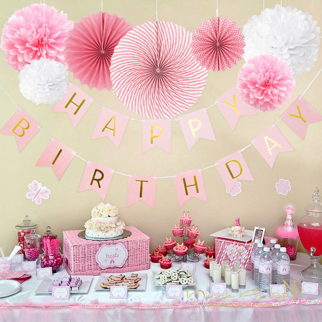 Pink Birthday Party Decorations Wedding Decor