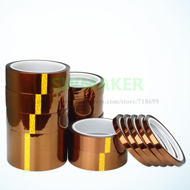SWMAKER 33m Various sizes Kepton 3D Tape High Temperature BGA Heat Resistant Polyimide Reprap 3D Printers High Quality