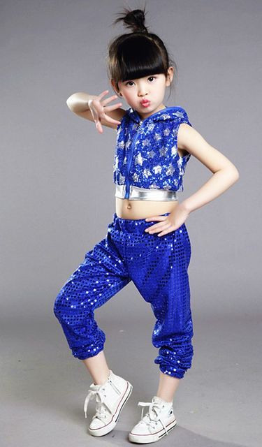0ac5cc224692 Children s dance costumes Little girls sequins jazz dance Modern ...
