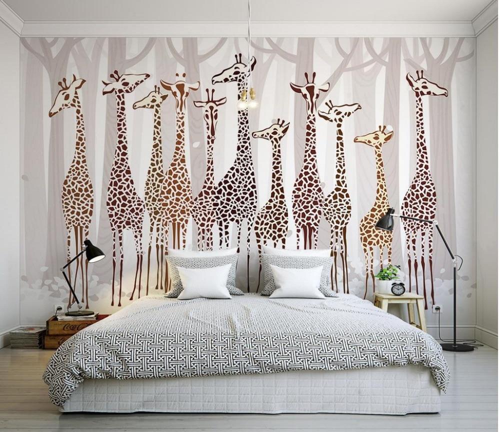Custom 3d photo wall paper Nostalgia giraffe 3d mural designs Living room TV backdrop bedroom 3d photo wallpaper шампунь для окрашенных волос l oreal professional технические шампуни
