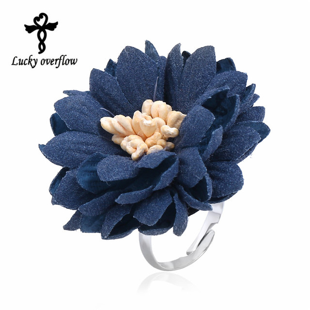 2018 New Fashion Exclusive Design Handmade Elegant Bohemian Style Ring Blue Colo