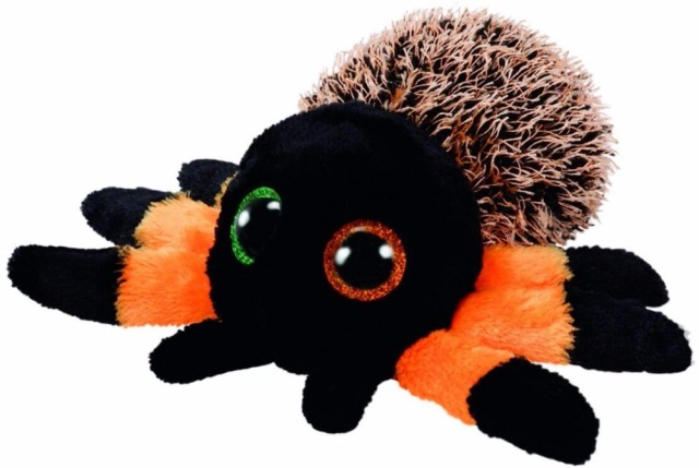 "Ty Beanie Boos 6"" Halloween Hairy The Orange Spider Big"