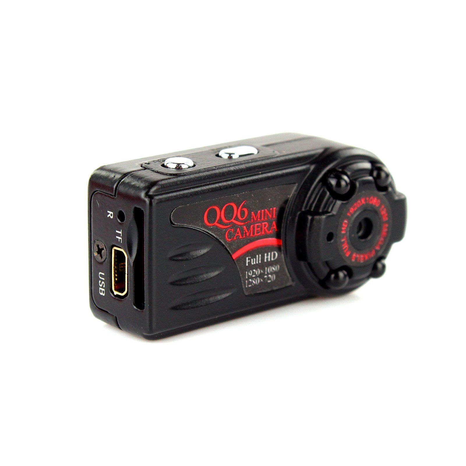 4GB Card+QQ6 Mini DV Full HD 1080P Digital Car Video Recorder Thumb Metal Mini Camera lc 08 mini dv headphone 1080p hd sport dv bluetooth headset stereo neck strap video recorder