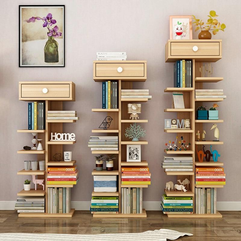 US $61.53 |8% 1 LK1686 Cheap Floor Stand Wood Bookshelf Simp Modern Living  Room Storage Shelf Creative Multistory Shoes Rack 3/8 Layers-in Storage ...