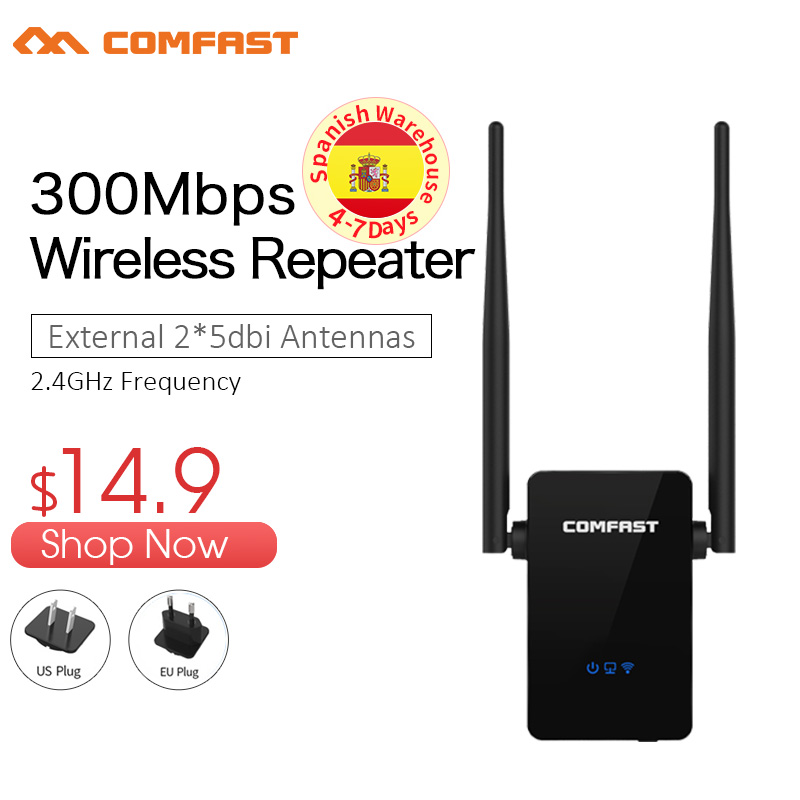 100M 2.4G//300M WiFi SIGNAL Wireless Internet Network Extender Dual-Band Repeater
