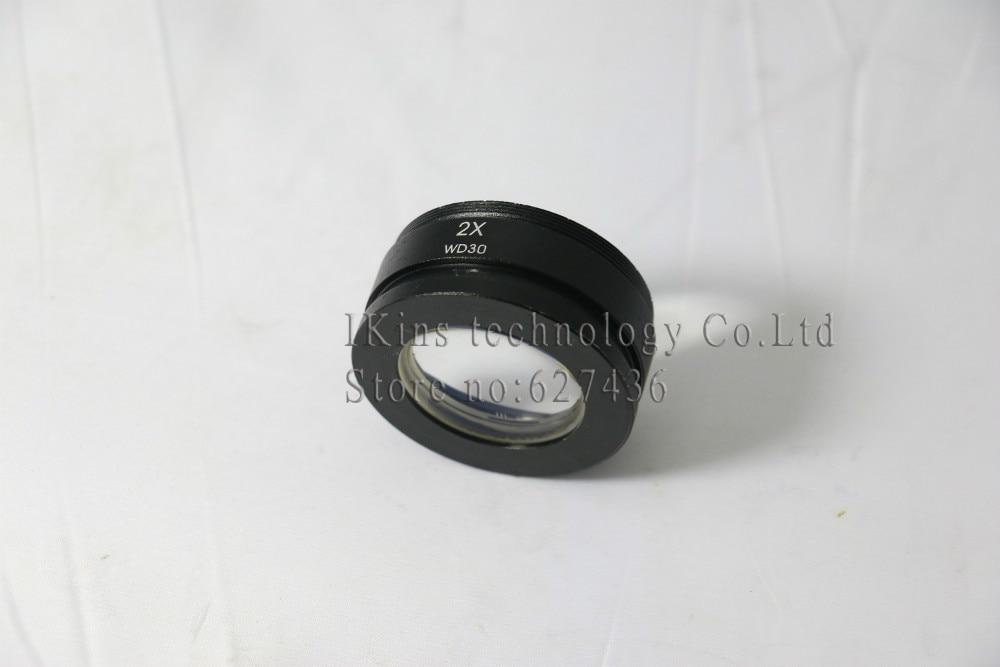 ФОТО 2.0X SZM Auxiliary Objective Lens for Zoom Stereo Microscope Thread 48mm for trinocular microscope