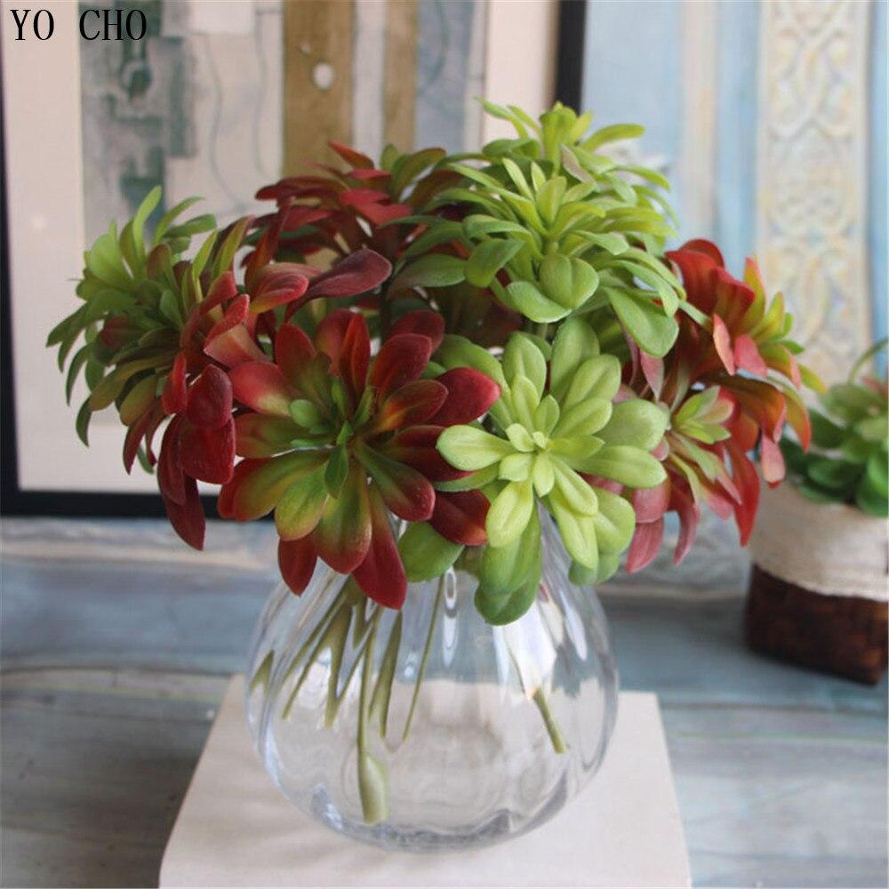 Multicolor 4 kinds Artificial Plants Grass Desert plant Artificial succulents Microlandschaft Christmas decorative fake flower