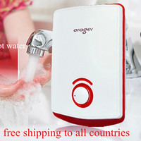 Water Heater Tap Electric Tankless Instantaneous Induction Hot Faucet Bathroom Kitchen Top Sink Wash Basin Geyser