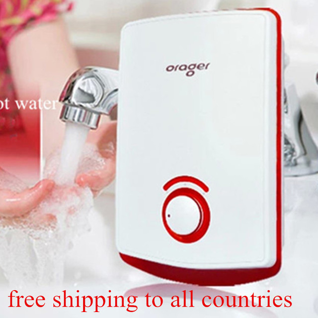 Electric Kitchen Water Heater Tap Without Tank Instantaneous Hot Flowing  Bathroom Sink Wash Basin Faucet Geyser