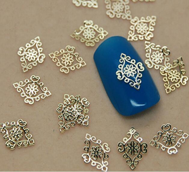 10 шт. Ногтей ювелирные изделия тенденция ногтей супер популярный 18 К металла ногтей тонкие металлические ногтей патч naill наклейка 10 шт./pag