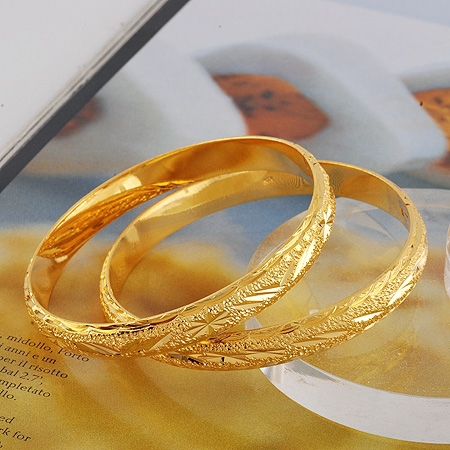 Online Buy Wholesale Solid Gold Bangle From China Solid