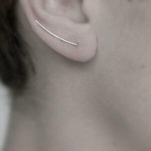Elitven 2 pcs/par orelha manguito clip em brincos u forma 100% 925 prata esterlina jóias feminino meninas presentes de aniversário