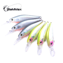 Bammax fishing lure 1pcs 4.4g 7cm Minnow Wobblers Crankbait Hard bait Artificial 3D Eyes Winter Fishing Tackle Pesca Plastic