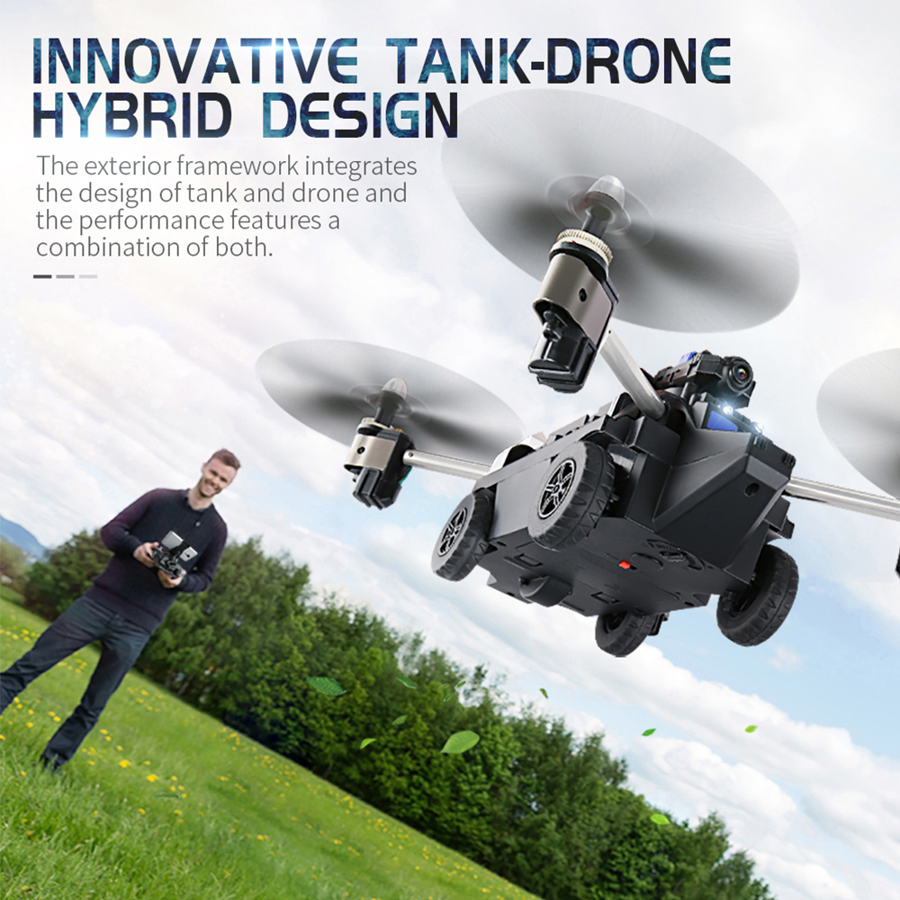 App Fpv Wifi Controlled Rc Tank Cloud Rover Remote Control Robot 216 Wiring Diagram Jjr C H40wh 720p Camera Drone 24g 6 Axis Gyro Headless Altitude