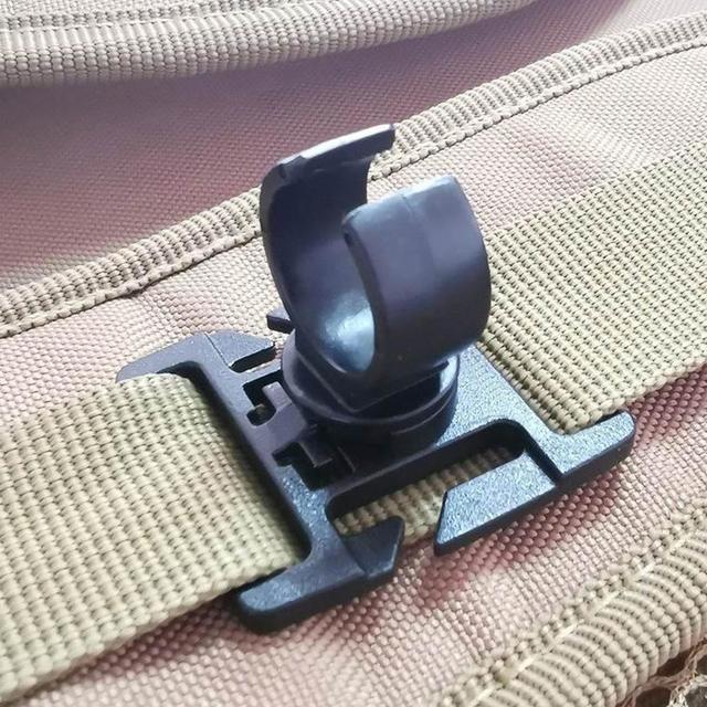 Mini Flashlight U Ring Clip Swivel Tactical Backpack Attach Strap Holder Mount