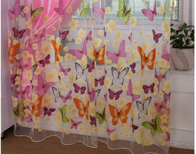 Tende Per Camerette Bambini On Line : Burnout farfalla tende della finestra di screening tulle voile