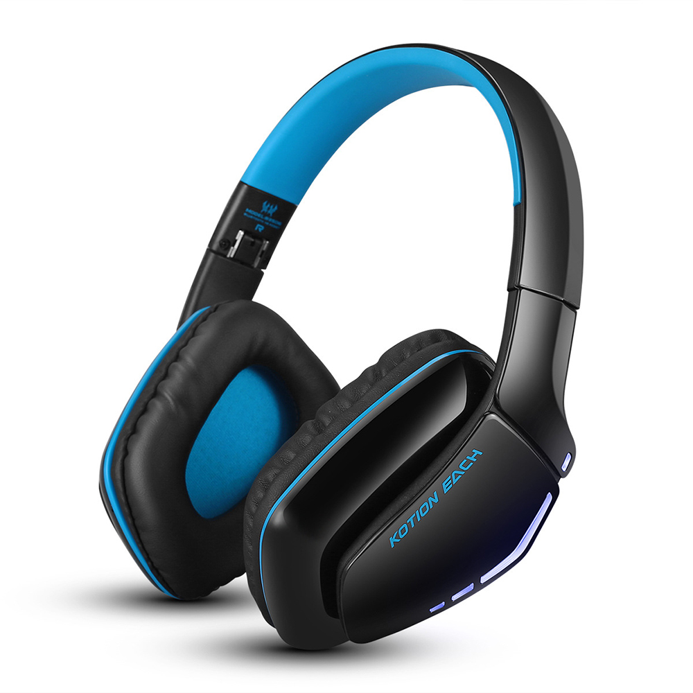 EACH B3506 Noise Isolation Bluetooth Stereo Headphone Foldable Best Wireless Music Headset with Mic 3.5mm Cable for Phone (Blue) high quality portable wireless bluetooth stereo foldable headphone with built in mic speaker for music