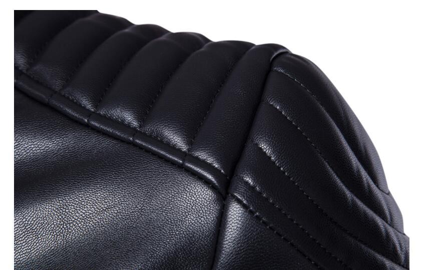 Vestes en cuir pour hommes, veste en cuir pour hommes manteau en cuir pour moto mince vêtements pour hommes stage personnalisé mode street noir - 4