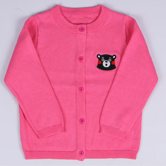 232eed047 Embroidery Character Baby Cardigan Knit O neck Long Sleeve Sweater ...